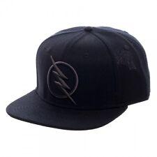 DC Comics Zoom Flash Logo Snapback Black on Black Baseball Cap Hat TV Show NEW!