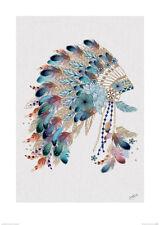 Summer Thornton (Tribal Headdress) Art Print PPR47072 50cm x 70cm