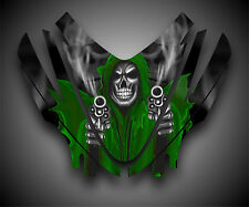 Arctic Cat M7 M8 M1000 Crossfire 05-11 Graphics Decal kit Hood Grim Reaper Green