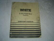 White 2-155 field boss tractor operator's manual