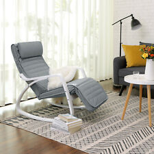 Relax Rocking Chair, Comfortable Lounger Recliner + Adjustable Footrest LYY11WG