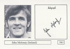 John Moloney Ireland Rugby Player Signed Photo Card Original Autograph