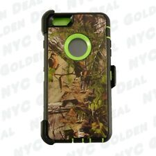 For iPhone 6 / 6S Shockproof Defender Case w/(Clip fits Otterbox) Green Tree