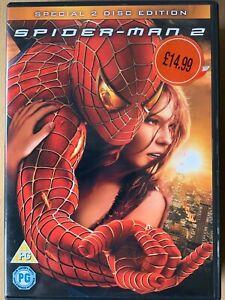 Spider Man 2 DVD 2004 Marvel Universe Superhero Movie Classic 2-Discs