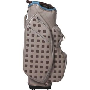 Ouul 15 Way Ladies Cart Golf Bag in Light Grey/Pale Blue