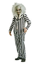 Beetlejuice Halloween Cosplay Fancy Dress Costume Outfit Adult Mens Male XL