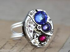 Mom Ring Birthstone Sterling Silver Personalized Mother Mothers Birthstones Gift