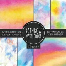 Rainbow Watercolor Scrapbook Paper Pad Vol.1 Decorative Crafts Scrapbooking K...