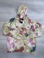 Nike NSW Sportswear Tie Dye Pullover Hoodie Men's Size Large CU4345-638 New