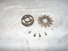 84 HONDA ATC200S RECOIL PULLSTART STARTER PULLY WITH FIN PLATE & BOLTS