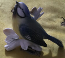 More details for vintage karl ens 'blue tit' porcelain bird figurine