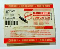 10 PIECES, MANCHESTER, 507-233-33 M45 CARBIDE INSERTS,   H558