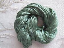 Teal green 7 strand spun silk Au Ver A Soie quality
