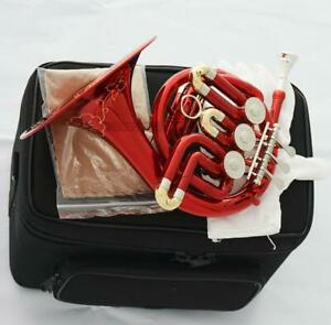 Red Lacquer NEW Piccolo MiNi French Horn Engraving Bell With Case