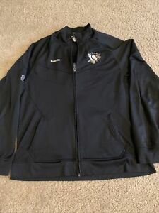 Reebok Pittsburgh Penguins Center Ice Collection Zip Up Jacket XL NHL