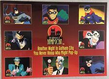"ADVENTURES OF BATMAN & ROBIN (1995) Skybox 7""x10"" promotional card Harley Quinn"