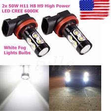 2x NEW 50W H11 H8 H9 High Power LED CREE 6000K Super White Fog Lights Bulbs