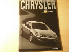 49615) Chrysler Neon Ausstattung & Extras Prospekt 01/2002