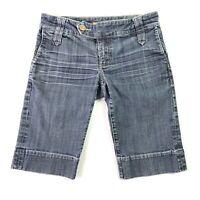 See Thru Soul Womens Denim Bermuda Jean Shorts Size 27 Inseam 12 in