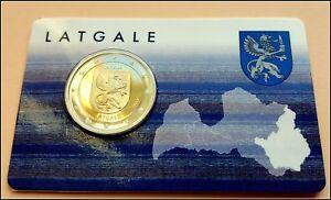 2 Euro Gedenkmünze Lettland  2017- Regionen Lettlands Latgale Kurland- Coincard
