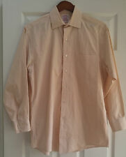 BROOKS BROTHERS Peach checkered Long Sleeve Shirt 15 - 2  Excellent condition