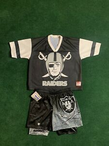 Vintage 80s/90s Raiders Starter Jersey Shorts Oakland Las Vegas LA NFL Big Logo