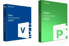 Project Professional 2019 and Visio Pro 2019 Original 1 PC 32/64 Bit