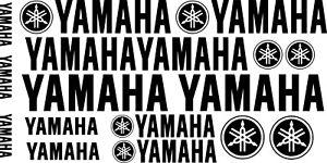 Yamaha & Yamaha logo Motorcycle Van Car Vinyl Decals Stickers 17 set 24
