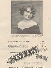 Y5046 KALIKLORA Zahnpasta - Anna Lisa Ryding - Pubblicità d'epoca - 1925 Old ad