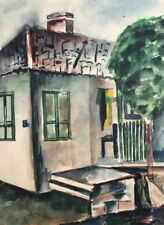 VINTAGE WC PAINTING IMPRESSIONISM HOUSE