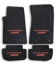 2010-2015 Chevrolet Camaro 4pc Black Carpet Floor Mats with Red Camaro SS Logo
