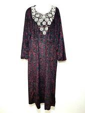 Abaya Maxikleid Djelaba arabisches Samtkleid Winterkleid Abendkleid Gr. M - XXXL