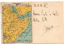PNF AOI cartolina in franchigia viaggiata da Asmara ad un capo manipolo MVSN