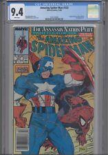 Amazing Spider-Man #323 CGC 9.4 1989 Marvel Silver Sable & Captain America App