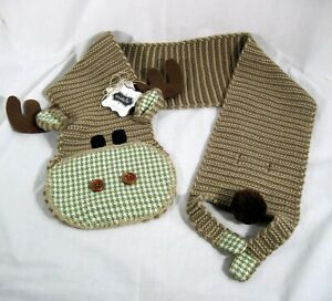 Mud Pie Baby Moose SCARF 157A011 Knit Wits Collection