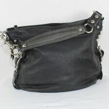 COACH ZOE  Black Leather Trim Purse -F14708