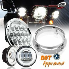 "7"" Chrome LED Headlight Light For Honda Shadow Sabre VT VF 700 750 1100"