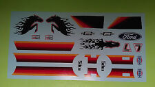 Pinto station wagon mustang pony express 1/25 waterslide decal sheet flames
