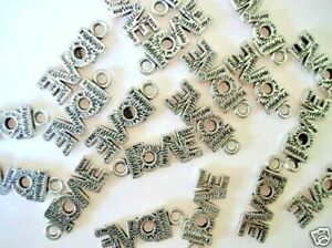 20 LOVE Word Silver Plated Metal Charm/Valentine's Day/Scrapbooking/craft K36*