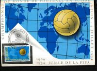Schweiz 596 Briefe/Belege auf amtlicher Maximumkarte, Eröffnungsspiel