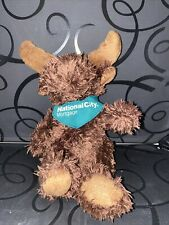 """Its All Greek To Me Moose Plush 9"""" National City Mortgage Green Scarf Brown..."""