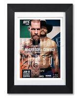 CONOR MCGREGOR VS COWBOY FIGHT SIGNED POSTER PRINT PHOTO AUTOGRAPH GIFT UFC 246