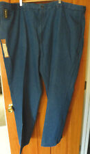 Haggar Mens Pants 52 x 32 Plain Front Classic Fit NEW Comfort Waist