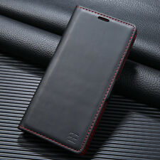 Luxus Echt Leder Flip Wallet Tasche Schutz Handy Hülle Für iPhone X Galaxy Note8