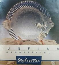 CRYSTAL CLEAR STYLESETTER HANDPAINTED SUNFISH PLATTER 12 AND A HALF INCHES