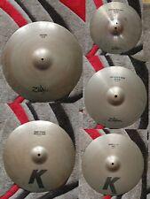 More details for zildjian k avedis cymbals crash ride hi hats usa originals