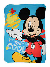 """Disney Mickey Mouse Throw Blanket 45"""" x 60"""" Too Cool Wink"""