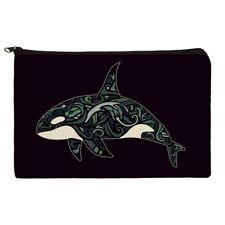 Killer Whale Orca with Waves Pencil Pen Organizer Zipper Pouch Case