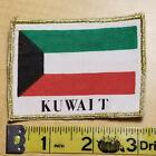 "Patch, Desert Storm, Kuwait Flag w Gold Edging, 3 1/4"" x 2 3/8"", 1991, NOS"