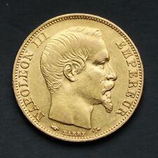 Pièce 20 Francs Or Napoléon III Tête Nue Années variées (1853-1860)